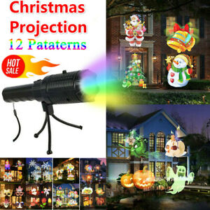 Indoor&Outdoor Christmas Laser Projection 12 Patterns LED Lights Festival Party