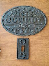 Western Cowboy Iron Wall Decoration