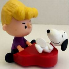 2015 McDonald's THE PEANUTS MOVIE - SCHROEDER AND SNOOPY Happy Meal Toy #9 NEW