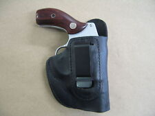 Smith & Wesson Airweight 38 Leather IWB Concealment Carry Holster CCW BLACK RH
