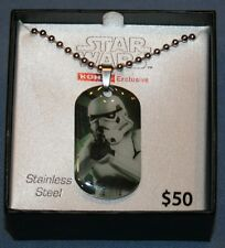 """Star Wars Storm Trooper Stainless Steel Dog Tag Style Necklace 18"""" NIB New"""