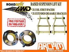 HILUX 4WD 2005-ON 50mm LIFT KIT COIL STRUT SPACERS & EXTENDED GREASABLE SHACKLES
