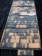 "357pcs - 3.54"" letterpress wood printing blocks wooden alphabet type font print"