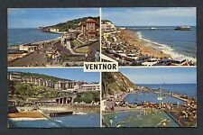Multiviews of Ventnor. Pier, Boating Pool, Cascade Hill. Stamp/Postmark - 1965