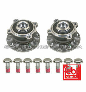 Front Wheel Bearing Bearings Hub Hubs PAIR LEFT+ RIGHT W/ BOLTS (8) for BMW E39