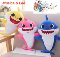 BABY SHARK peluche MUSICA canta CANZONE LED Luci