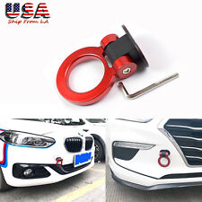Universal Car Auto Trailer Ring ABS Red Track Racing Tow Hook