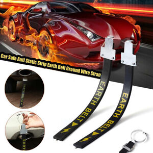 Car Safe Anti-Static Strip Earth Belt Ground Wire Strap Vehicle Driving Tool RY