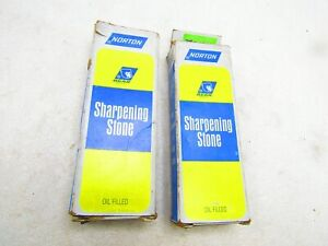 Sharpening stones by Norton, two pieces