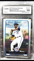 2012 Marcus Stroman Bowman Chrome Refractor Rookie Card GMA 10 NY METS ⚾️