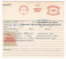 Frankfurt 1929 Patentex Empfängnisverhütung Medizin AFS Archivkarte Unikat
