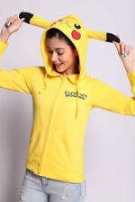 Pikachu Hoodie Zipper Sweater Shirt Jacket Costume for Halloween Cosplay Size: S