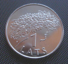Latvia /Lettonia coin 1 Lats, 2006, Ligo Wreath ' SUN DAY UNC FROM A BANK ROLL