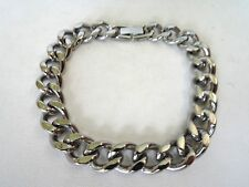 Men's Solid Polished Stainless Steel Cuban link Bracelet 9 Inches
