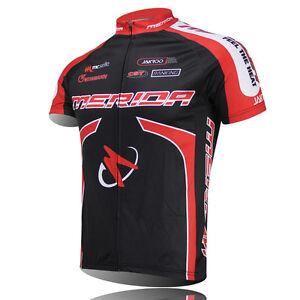 Merida Men's Bike Clothing Red Cycling Jerseys Wear Short Sleeve Bike Jersey Top