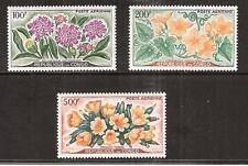 CONGO # C2-4 MNH AIRMAILS. FLOWERS IN NATURAL COLOR.