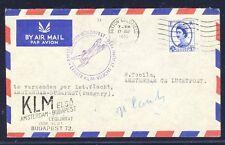 18660) Niederlande KLM FF Amsterdam - Budapest 21.6.56 ab GB / UK