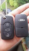 Coque Clé plip telecommande 3 Boutons Audi A1 A3 A4 A5 A6 A8 / pile CR1620