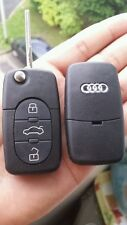 Coque Clé plip telecommande 3 Boutons Audi A1 A3 A4 A5 A6 A8 TT Q7 + logo audi