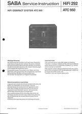 Saba Original Service Manual per ATC 950