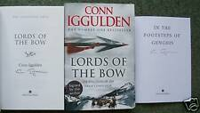 CONN IGGULDEN SIGNED LORDS OF THE BOW + SIGNED BOOKLET 1/1 UK HB/DJ 2008 NEW