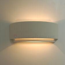 APPLIQUE LAMPADA PARETE CERAMICA BIANCA DESIGN MODERNO COLORABILE VERNICIABILE