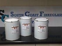 Fibreglass  Resin    TOPCOAT/FLOWCOAT LIGHT GREY 15kg inc Hardener