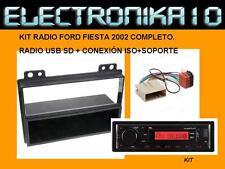 MARCO SOPORTE RADIO 2DIN FORD FIESTA MAZDA 2002 + CONEXION ford A ISO