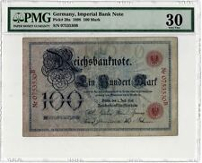 1898D Germany German Gold Mark 100 Mark Imperial Reichsbank PMG VF30 (Pick# 20a)