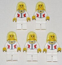 Lego Lot of 5 Pirates of the Caribbean Female Minifigures Figures Blonde Hair