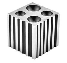 """Jewelers Steel Dapping and Shaping Block Doming Bead Caps Tubes  2"""" Square"""