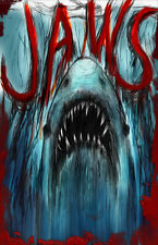 """Jaws """"The Bringer of Death"""" Great White Sharks 11 x 17 High Quality Poster"""