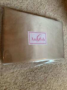 "$1975! NEW Ann Gish ""Satin"" 100% SILK Taupe KING Duvet Cover - GORGEOUS!"