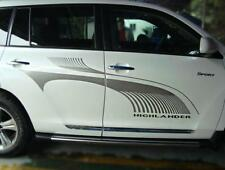 2 PCS Graphics Sticker Decal Car Waist Line Stripe Emblem For Toyota Highlander