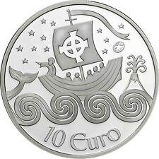 Irland 10 Euro Sankt Brendan der Seefahrer 2011 PP Entdecker Silbermünze