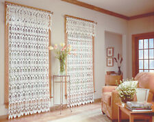 "Medallion Macrame Valance, 48"" wide by 16"" long, White, Lorraine Home Fashions"