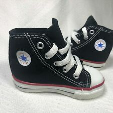 CONVERSE Chuck Taylor Made in USA VINTAGE Black Hi Top Sneakers Boys Size 5 LN