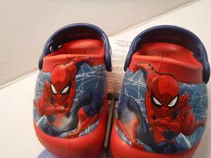 Zuecos Sp/íderman para ni/ños Zuecos Spiderman Marvel para Playa o Piscina