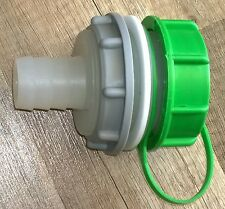 Tankanschlusstutzen mit Schlauchtülle 30mm für Wassertanks Wohnwagen, Boote