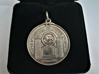 VINTAGE SOLID SILVER MEDAL THE INSTITUTE OF CLAYWORKERS FOR LONG SERVICE 1948