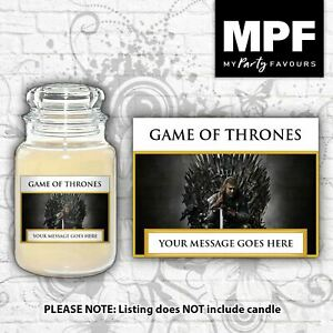 Personalised 'Game of Thrones' Candle Label/Sticker - Perfect birthday gift!