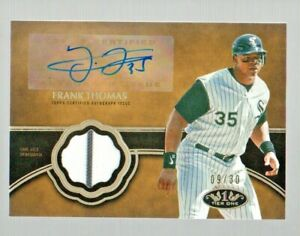 2019 Topps Tier One Autograph Relic Frank Thomas #T1AR-FT #'d 9/30 White Sox