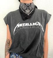 Camiseta mujer Metallica gris sin mangas talla M h&m nueva con etiqueta moda