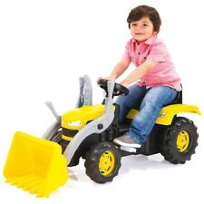 TRACTOR EXCAVATOR Digger Ride On Kids Pedal Operated Child Toy Car Bike -Yellow