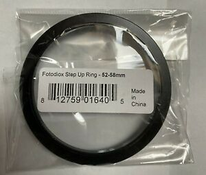 BRNAD NEW - Fotodiox Step Up Ring 52mm to 58mm