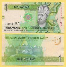 Turkmenistan 1 Manat p-29b 2014 UNC Banknote
