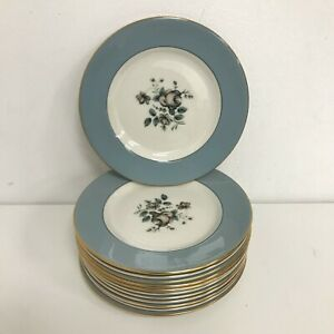 Royal Doulton 'Rose Elegans' Vintage Set of 12 Floral Design Side Plates 421198
