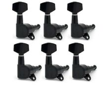 Black Fender Logo Tuning Pegs / Machine Heads for Stratocaster / Telecaster