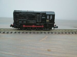 Graham Farish 371-020 Black class 08 diesel DCC fitted, renumbered and weathered