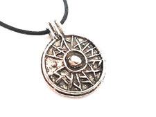 Viking York Good Luck Shield Pewter Pendant